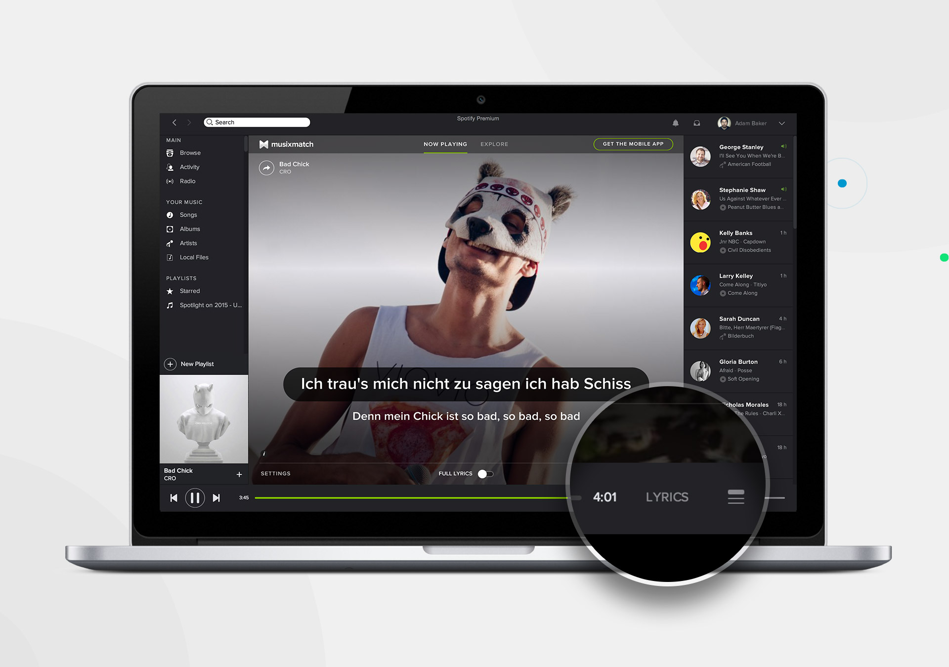 Songtexte Spotify Pc
