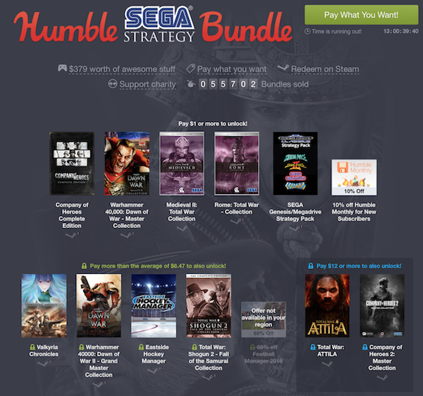 humble sega bundle k