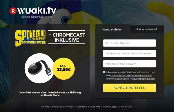 google chromecast wuaki.tv