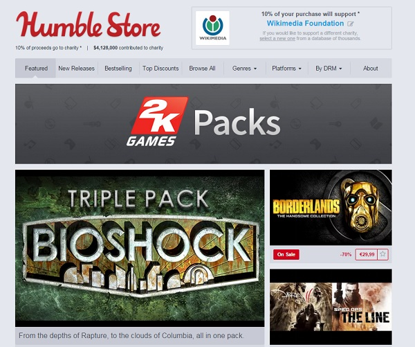 humble store 2k games packs