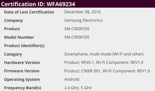 Вweb-сети интернет появились фотографии Самсунг Galaxy C7 Pro