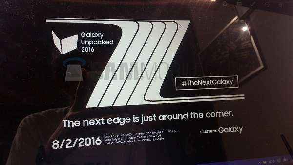 samsung galaxy note 7 unpacked 2016