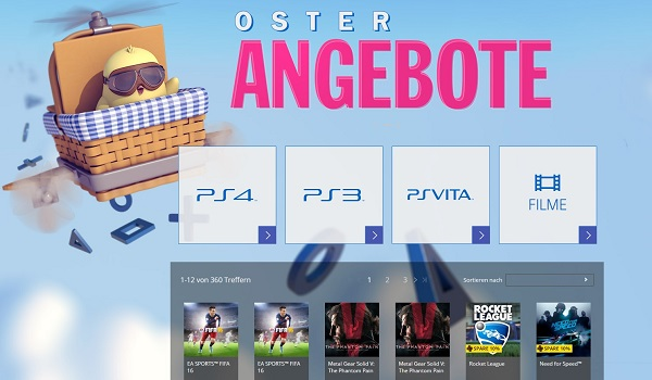 playstation oster angebote 2016