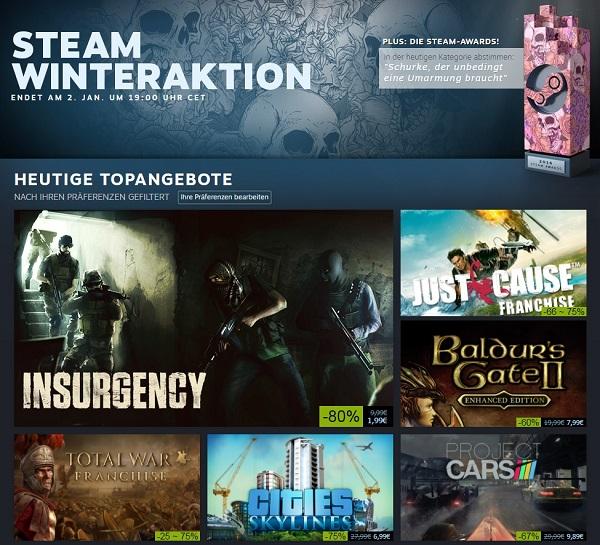 Steam Winteraktion