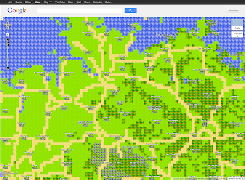 Google Maps in 8-Bit
