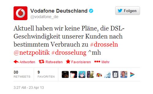 Vodafone Plant Aktuell Keine Einführung Einer Dsl Drosselung