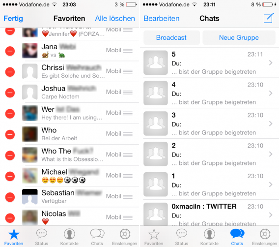 WhatsApp-iOS-Favoriten