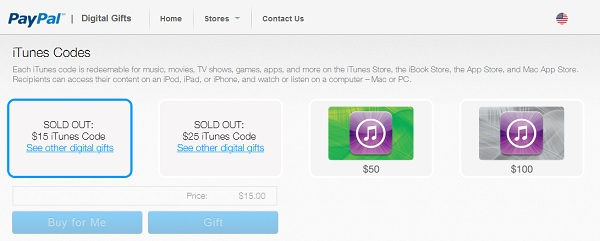paypal itunes