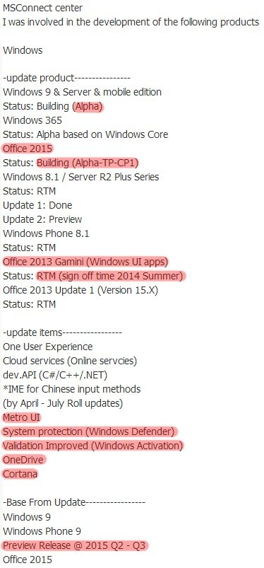 Windows-Roadmap