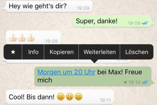 whatsapp favoriten stern