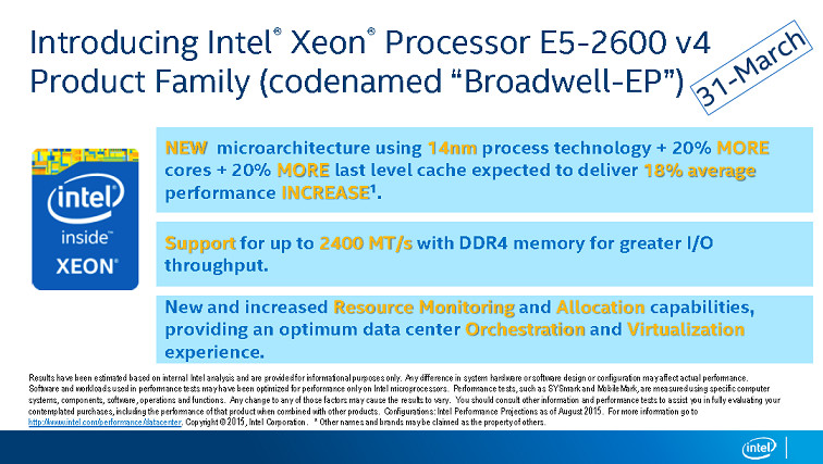 intel broadwell ep march
