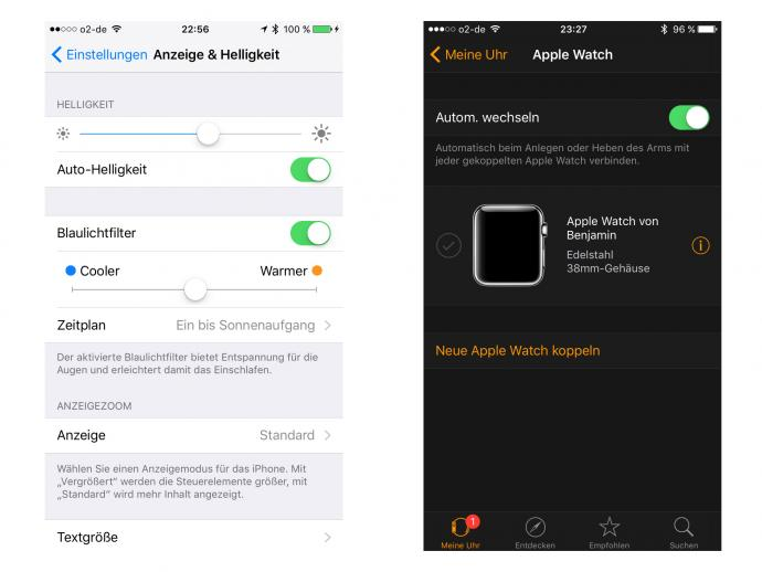 ios 9.3 applewatch nightshift