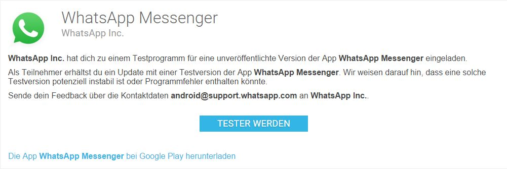 whatsapp beta android