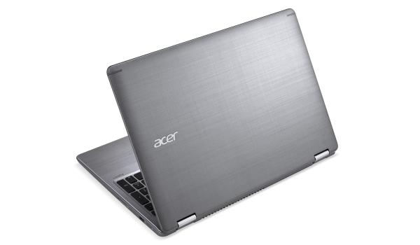 Metal, fiberglass, silver: Acer uses different materials