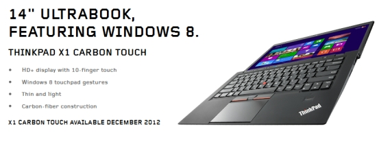lenovo carbon touch