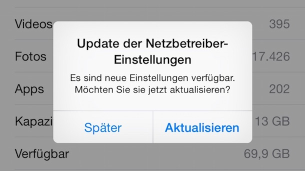 Telekom iPhone Update