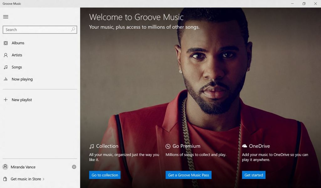 Welcome Screen for Groove 1024x599