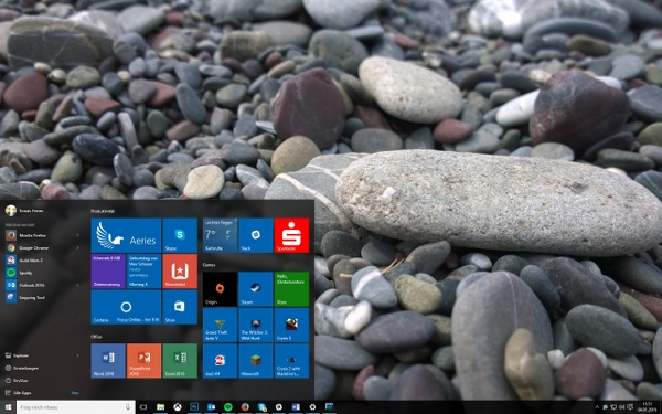 Windows10 Startmenü 600x375