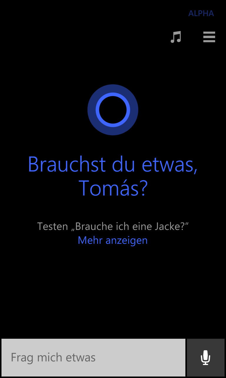 Cortana Deutsch