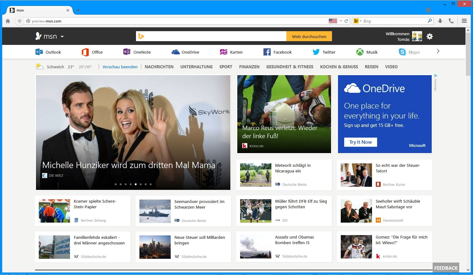 MSN Microsoft Preview