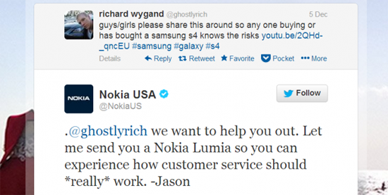 Nokia Sam Tweet