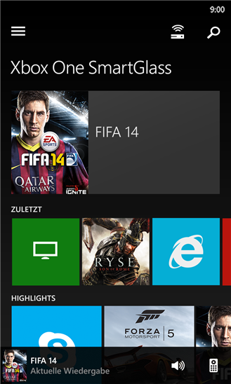 SmartGlass WP8