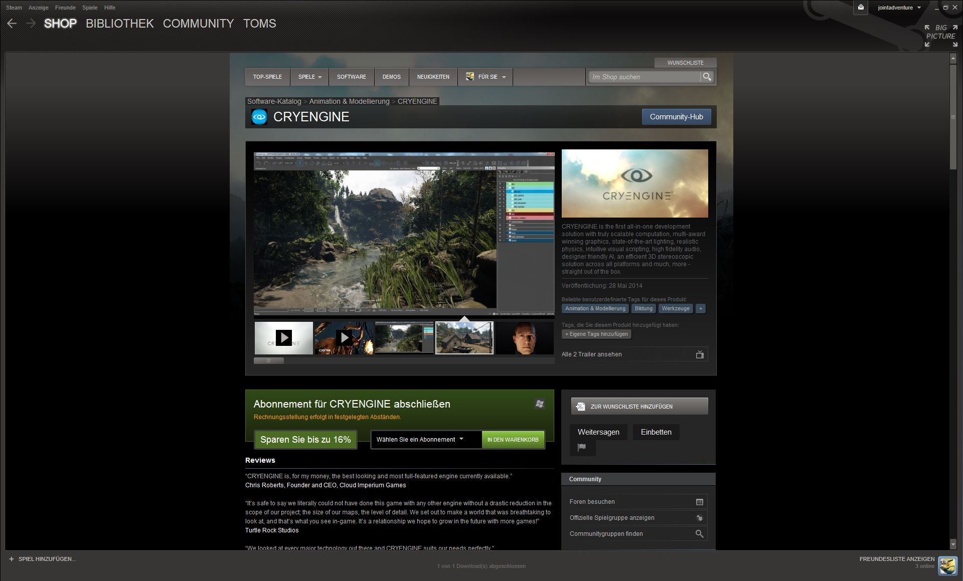 Steam CryEngine