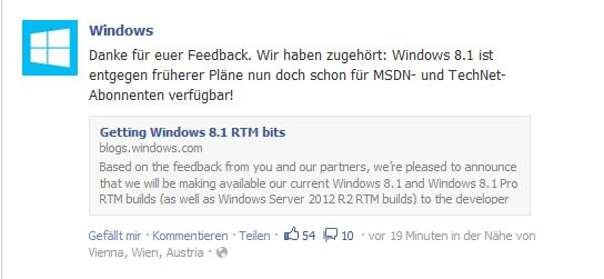 Windows Facebook Win8.1