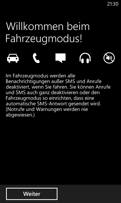 Windows Phone 8 Automode