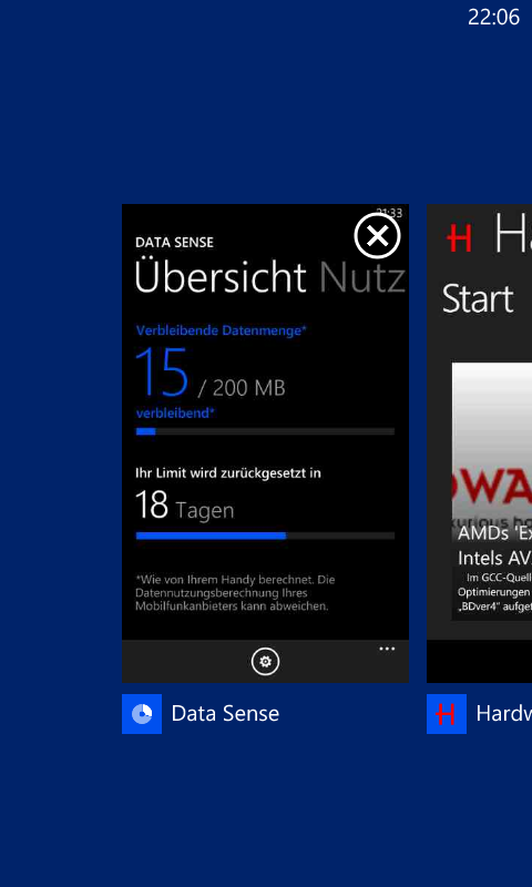 Windows Phone 8 Taskmanager