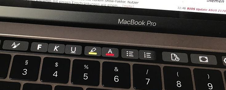 Test: MacBook Pro mit Touch Bar