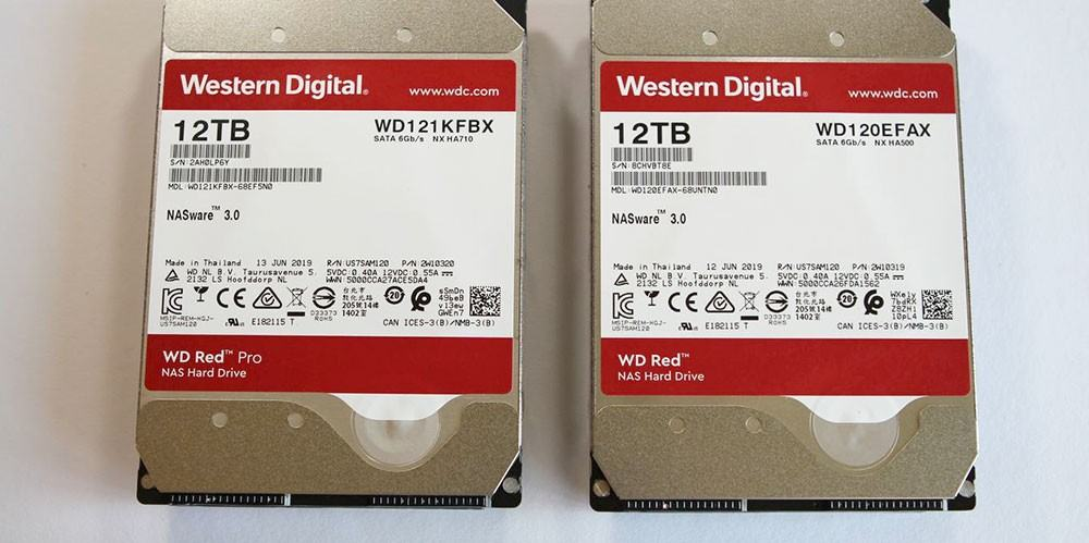 Western Digital Red 12 TB und Red Pro 12 TB