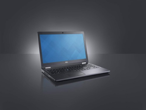 Beauty shot of a Dell Precision 3510 (codename Park City P) non-touch workstation.